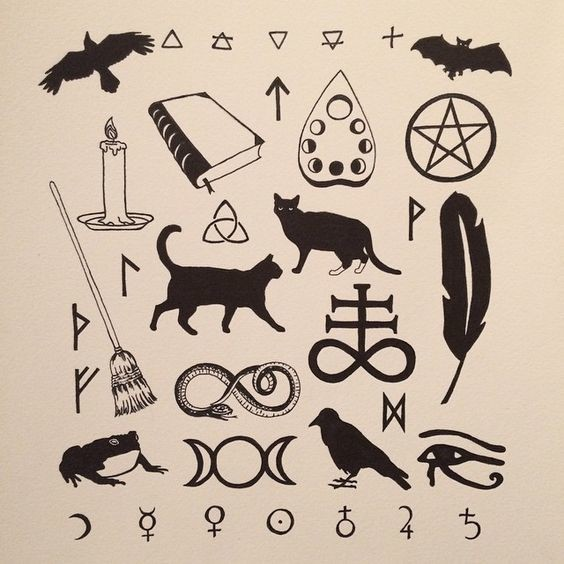 Wiccan symbols these friday the 13th tattoos will prove for Black friday tattoo deals