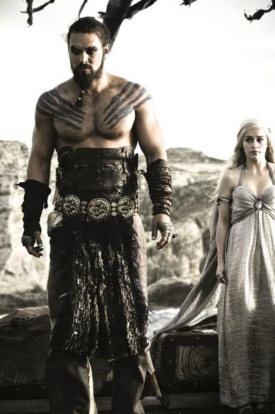 Daenerys Targaryen and Khal Drogo from 'Game of Thrones'