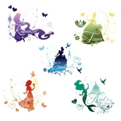 Princess Silhouette Decals