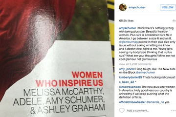 Amy Schumer to 'Glamour': Plus Size? Oh, Please!