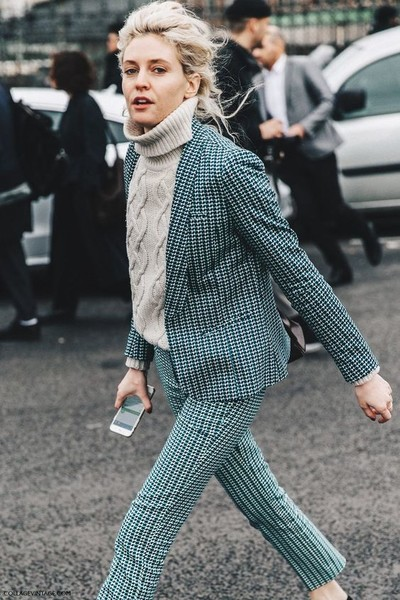 Checkered Blazer + Trousers