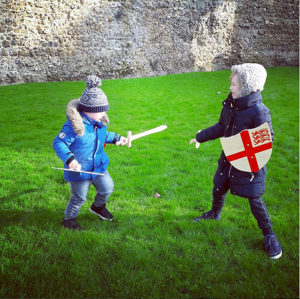 When buying wooden swords & shields backfires