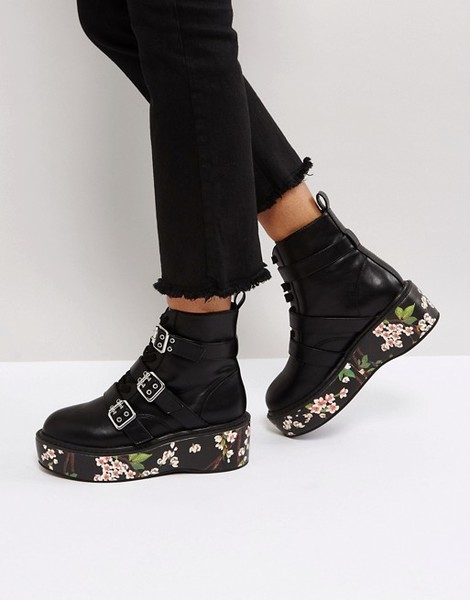 Floral Chunky Boots