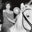 Bianca Jagger's Off-the-Shoulder Birthday Maxi-Dress