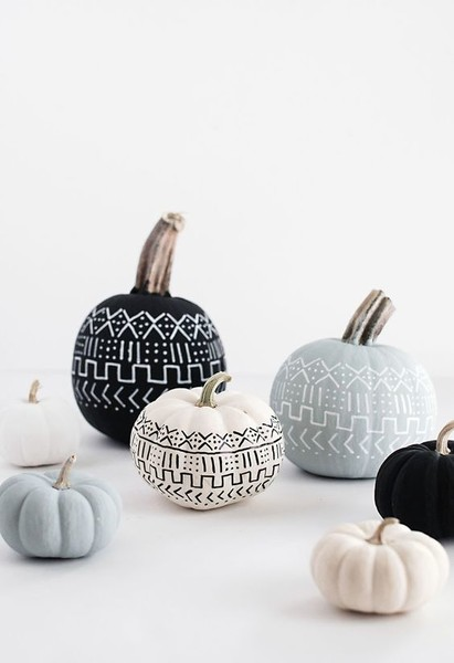 Mud Cloth Pumpkins