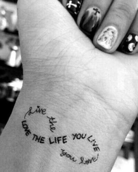 f2bf052cc21f4 Live and Love - Dainty Wrist Tattoos for Women - Livingly