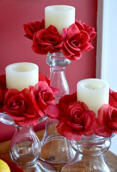 Candle Floral Rings Idea
