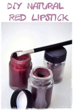 DIY Natural Red Lipstick