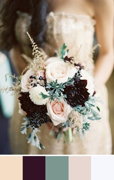 The prettiest wedding color palettes livingly the prettiest wedding color palettes junglespirit Gallery
