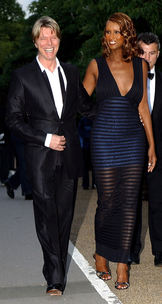 Iman and David Bowie Then