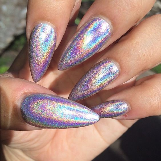 These Holographic Nails Will Give You Major Nail Envy