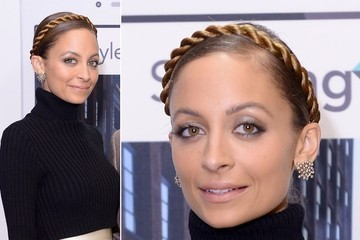 """Here's an Interesting """"Twist"""" On the Milkmaid Braid, Courtesy of Nicole Richie"""