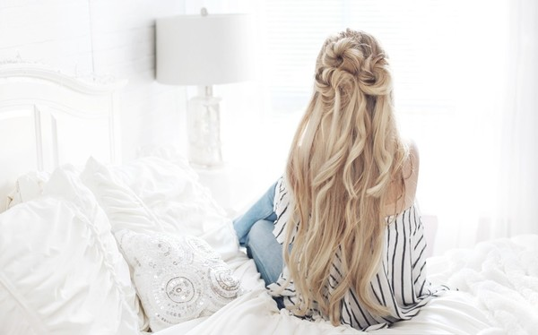 Half Up Messy Buns The Prettiest Half Up Half Down Hairstyles For