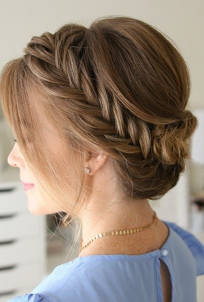 Fishtail Braided Up-do