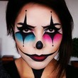 Pink and Blue Clown Makeup
