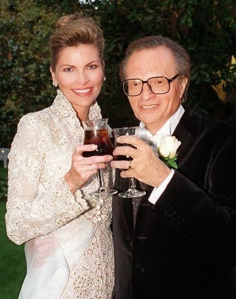 Larry King and Alene Akins