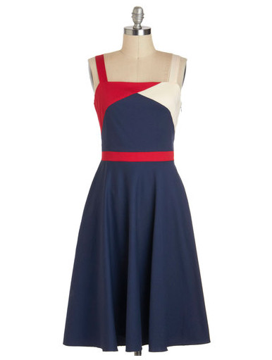 a nautical inspired red white and blue dress patriotic pieces