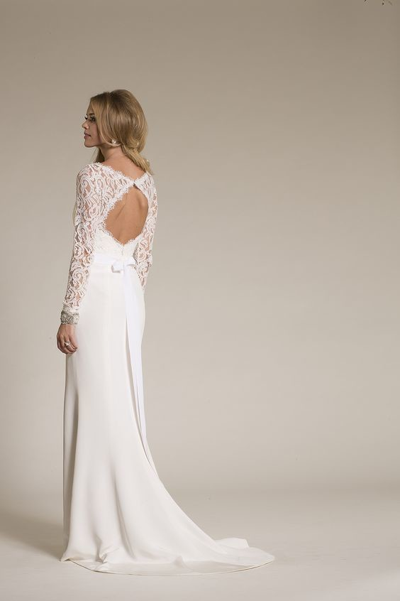Lacey Long Sleeves The Dreamiest Wedding Dresses With Keyholes On Pinterest Livingly