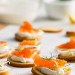 Smoked Salmon + Cream Cheese Sliders