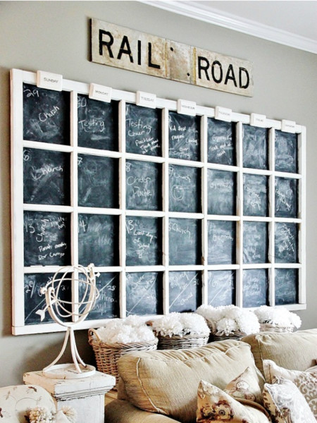 Diy Calendar Wall Art : Diy chalkboard calendar creative wall decor ideas