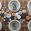 Mini Pumpkin Tablescape