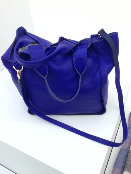 Cobalt Leather Tote