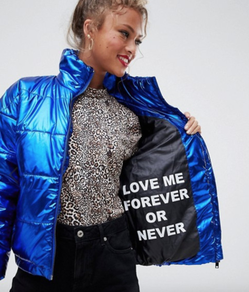 Electric Blue Puffy Jacket