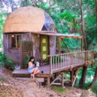 Hide Out In A Mushroom Dome Cabin