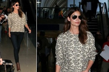 Steal Her Weekend-Ready Look: Lily Aldridge's Easy Travel Style