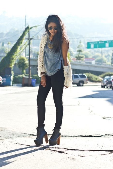 with what to wear with platform shoes livingly