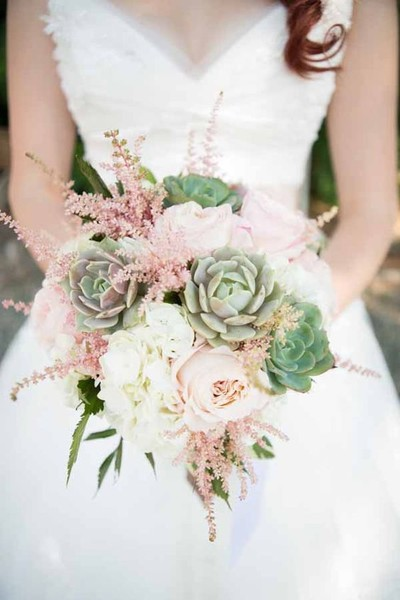 Pretty Pink & Green Bouquet