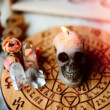 Skull Candles + Crystal Grids