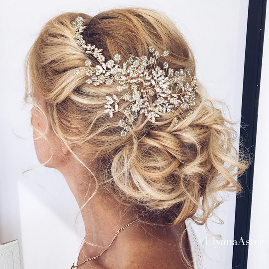 elegant wedding hairstyles with headpieces livingly