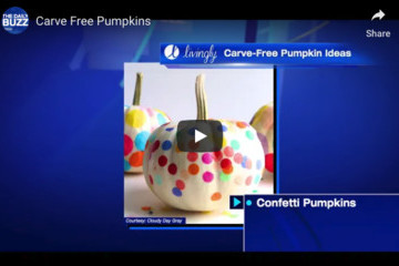 Cute And Easy Carve-Free Pumpkin Decorating Ideas