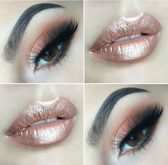 Rose Gold Sheen Out Of This World Metallic Makeup Looks