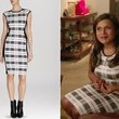 Mindy Kaling's White Plaid Colorblock Dress on 'The Mindy Project'