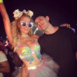 At Electric Daisy Carnival 2017 With Fiance Chris Zylka