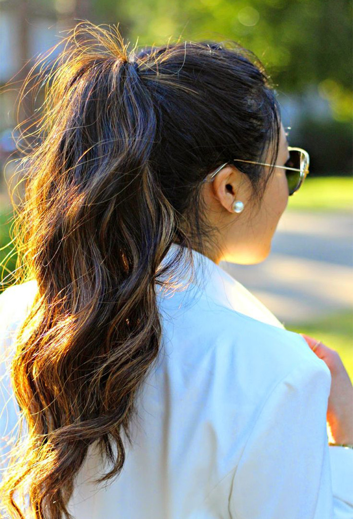 Wavy Ponytail Easy Back To School Hairstyles To Let You