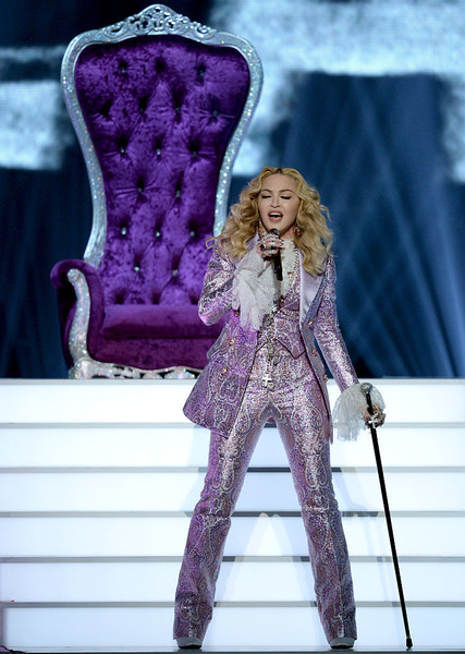 In A Glorious Metallic Pantsuit While Performing Her Prince Tribute At The 2016 Billboard Music Awards