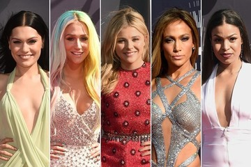 VMA Hairstyles: The Center Part