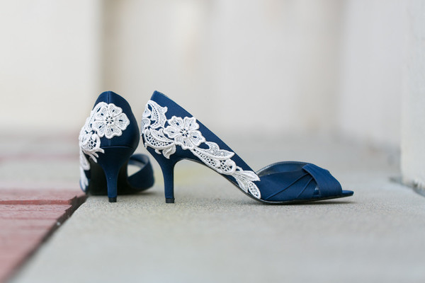 White Lace on Blue