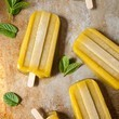 Mango Bourbon Smash Popsicles