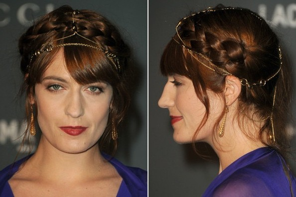 Florence Welch's Jewel-Accented Updo