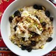 Ricotta Pistachio Raisin Oats Bowl