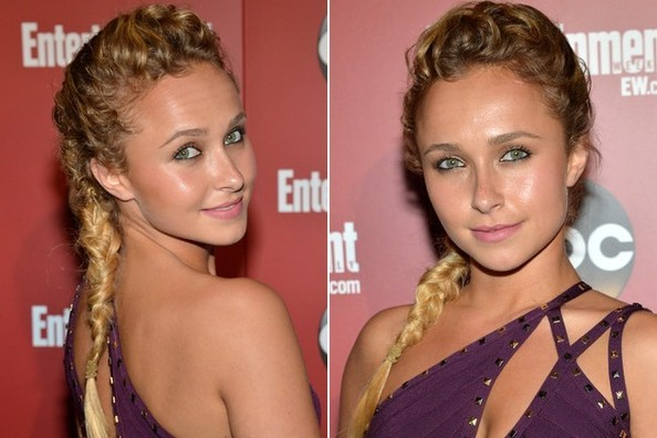 Hayden Panettiere's Textured Look