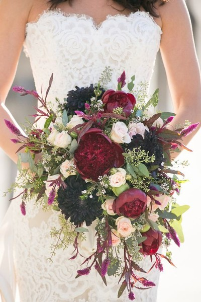 Lush Burgundy & Purple Bouquet