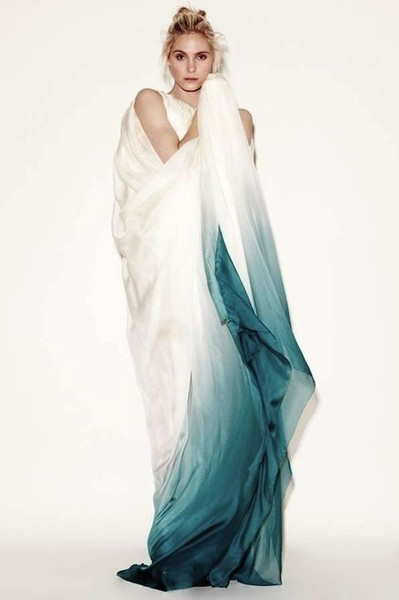 Stunning Ombre Wedding Dresses Dip Dyed Teal