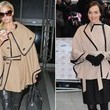 Khaki Capes with Black Leather Trim