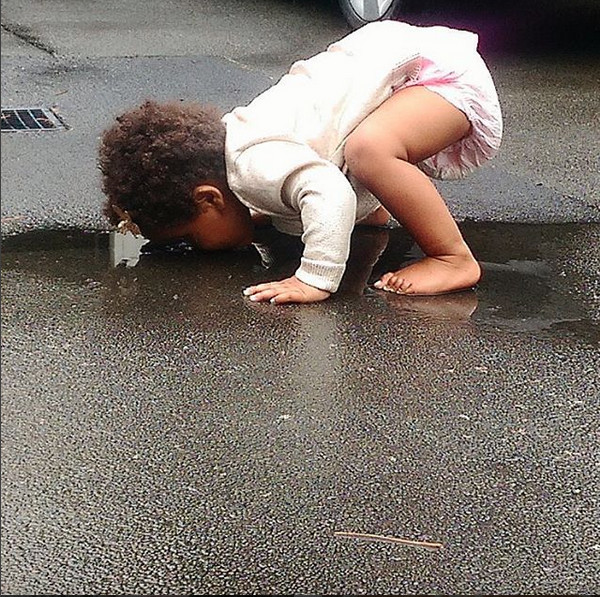 When drinking out of a puddle seems like a good idea