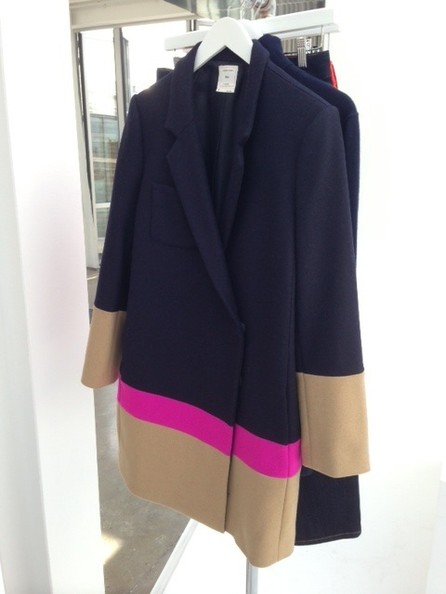 Color-Blocked Coat